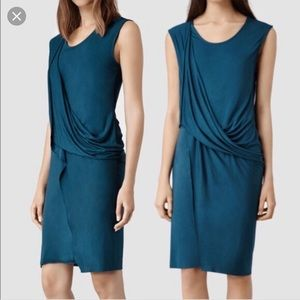 AllSaints Amelia dress size US 6 in blue/aqua